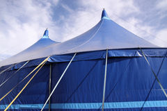 Blue Marquee / tent stock photo