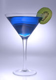Blue martini 2. Blue martini with kiwi fruirt head on Stock Photo