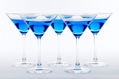 Blue Martini Cocktail Royalty Free Stock Photo