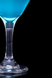 Blue martini in glass Royalty Free Stock Photo