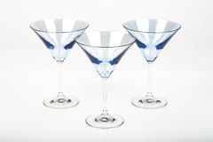 Blue Martini Glasses. Funky blue martini glasses with pattern Royalty Free Stock Photos