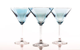 Blue Martini Glasses Stock Photos