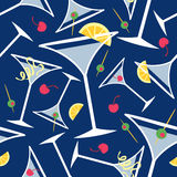 Blue Martinis Pattern Royalty Free Stock Photo