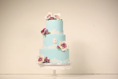 Blue marzipan cake Stock Photography