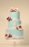 Blue marzipan cake Royalty Free Stock Photography