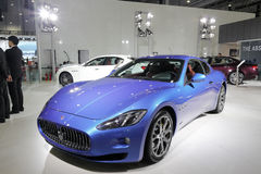 Blue maserati car Royalty Free Stock Photos