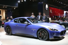 Blue Maserati sport car Royalty Free Stock Images