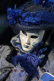 Blue mask at Carnival of Venice Royalty Free Stock Photo
