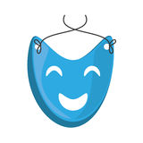Blue mask happy theater graphic Royalty Free Stock Images