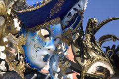 Blue mask from venice carnicval Royalty Free Stock Image