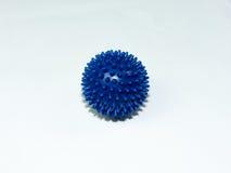 Blue Massage Ball on white Background Stock Image