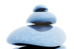 Blue Massage Stones Royalty Free Stock Image