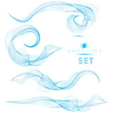 Blue massive blend waves abstract background for design premium. Set Royalty Free Stock Images