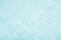 Blue Mat Traditional handicraft bamboo weave texture background.