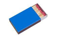 Blue Matchbox Royalty Free Stock Photo