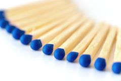 Blue matches Royalty Free Stock Images