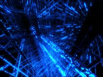 Blue matrix Stock Photo