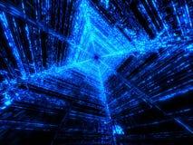 Blue matrix Stock Images