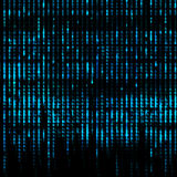 Blue Matrix Abstract - binary code screen background Royalty Free Stock Image