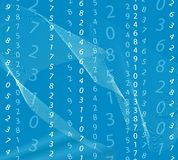 Blue matrix background. Abstract blue matrix background with white numbers Royalty Free Stock Image