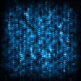 Blue matrix background Royalty Free Stock Images