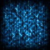 Blue matrix background Royalty Free Stock Images