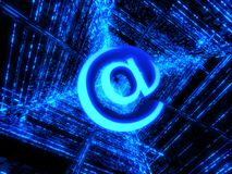 Blue matrix and internet sign Stock Image
