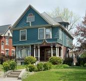 Blue & Mauve Victorian Home Stock Images