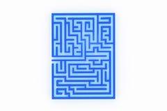 Blue maze Royalty Free Stock Photography