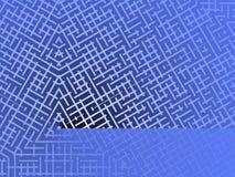 Blue Maze Background Stock Photo