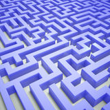 Blue maze Royalty Free Stock Image