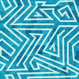 Blue maze seamless pattern. (eps 10 Royalty Free Stock Photography