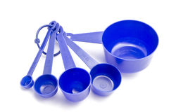 Blue measuring spoons Stock Image