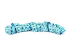Blue measuring tape Royalty Free Stock Photos