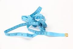 Blue measuring tape Stock Image