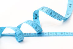 Blue measuring tape Royalty Free Stock Photography