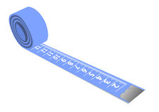 A blue measuring tape isolated on Stock Images