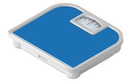 Blue mechanical floor scales in isometric view. Vector illustration isolated on white background vector illustration