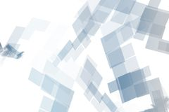 Blue Mechanical Tech Blocks Stock Photography