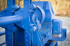 Blue mechanism Stock Photo
