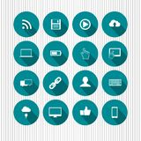 Blue media icons Royalty Free Stock Image
