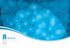 Blue medical background. Blue alternative medication concept - vector illustration