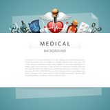 Blue Medical Background with Copy Space Royalty Free Stock Images
