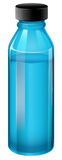 A blue medical bottle with a cover Royalty Free Stock Photo