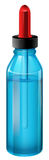 A blue medical bottle with a dropper Royalty Free Stock Photo