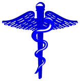 Blue medical caduceus Royalty Free Stock Photos