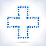 Blue medical cross. Royalty Free Stock Photos