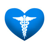 Blue medical heart Royalty Free Stock Photography