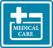Blue medical icon for medicine industry Stock Photography