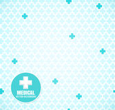 Blue medical pattern Royalty Free Stock Images
